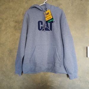CAT Embroidered Logo Work Hoodie NWT